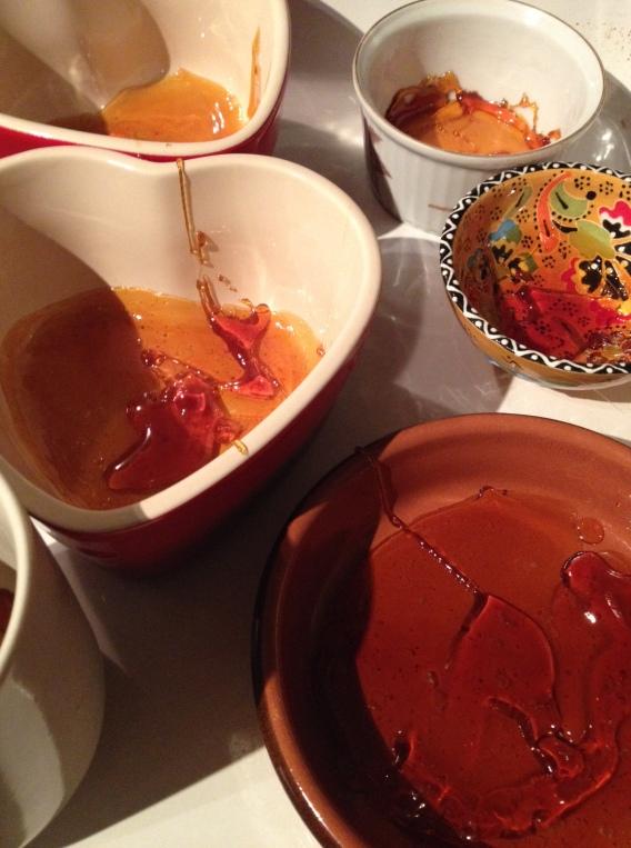 Flan de Naranja caramel